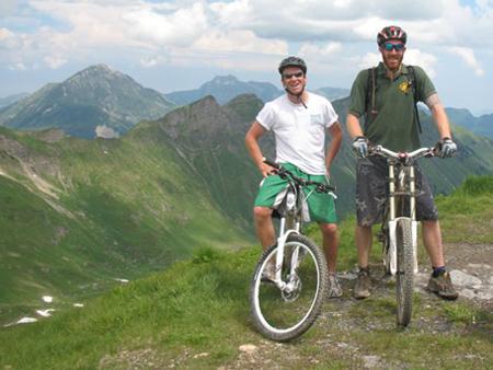 Rob-and-zeb-Mountain Bike